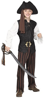 Rustic Pirate Boy Child Costume