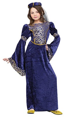 Renaissance Maiden Child Costume
