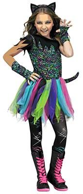 Wild Cat Rainbow Leopard Child Costume