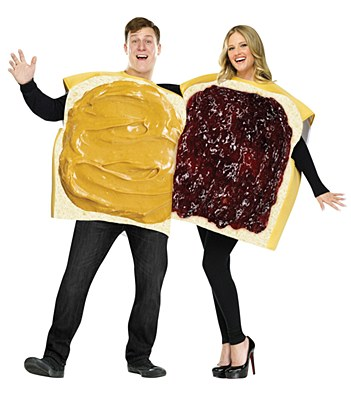 Peanut Butter And Jelly Pair Adult Costumes