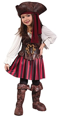 High Seas Pirate Girl Toddler Costume
