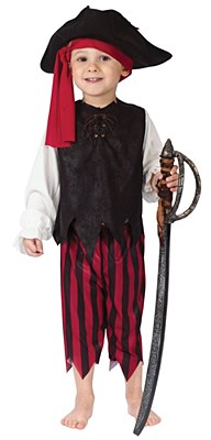 Caribbean Pirate Boy Toddler Costume