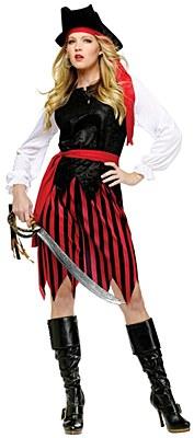 Caribbean Pirate Lady Adult Costume