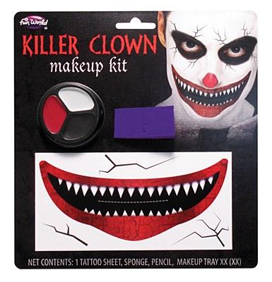 Killer Clown Makeup Kit