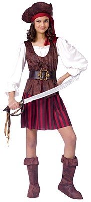 Pirate Girl Deluxe Child Costume