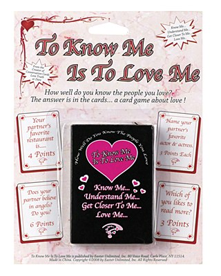 Valentine's Trivia Card Game