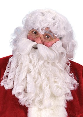 Santa Deluxe Beard And Wig Set
