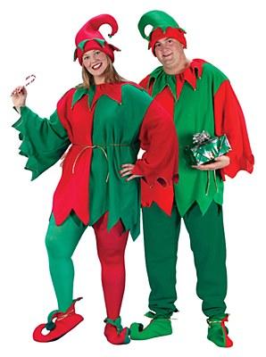 Jingle Bell Elf Adult Plus Costume