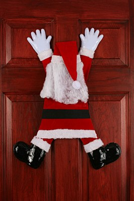 Wrong Way Santa Door Hanger