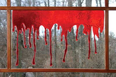 Bloody Drips Window Decor