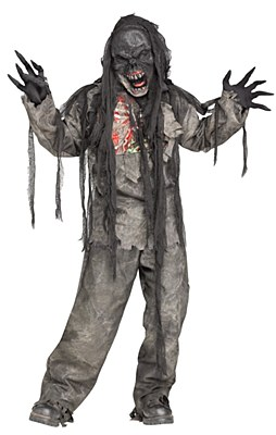 Burning Dead Zombie Deluxe Child Costume