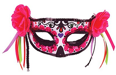 Day Of The Dead Sugar Skull Red Maquerade Eye Mask