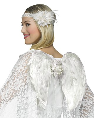 Angel Mini Feather Wings And Headpiece Set