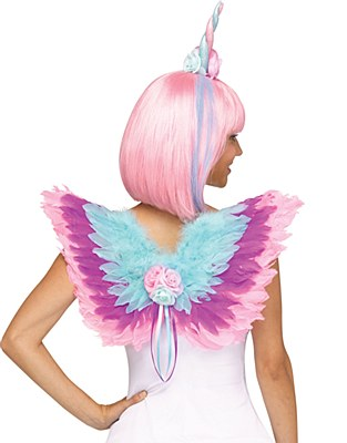Unicorn Mini Feather Wings And Horn Set