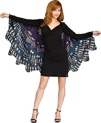 Fantasy Butterfly Fabric Wings - Tiger Blue