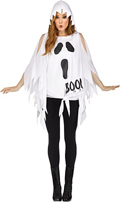 Ghost Poncho Adult Costume
