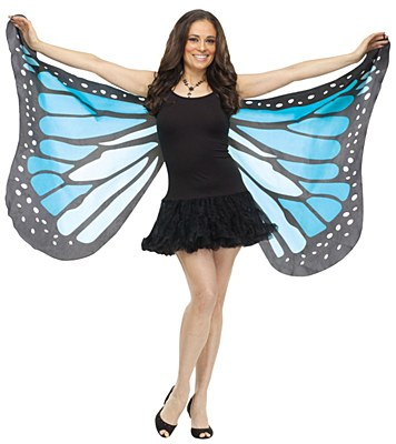 Blue Butterfly Fabric Adult Wings