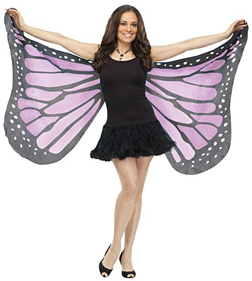 Purple Butterfly Fabric Adult Wings