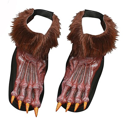 Werewolf Brown Furry Foot Shoe Covers
