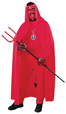 Full Length Hooded Red Adult Cape