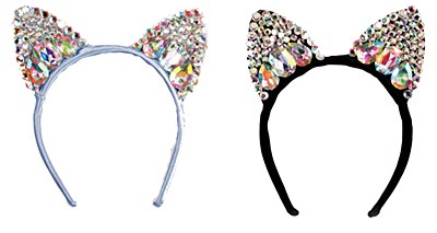 Jeweled Cat Ears Headband