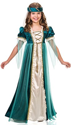 Emerald Juliet Child Costume