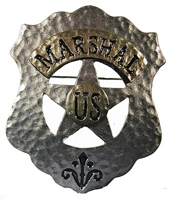 US Marshal Metal Badge