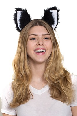 Cat / Skunk Ears Headband