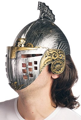 Medieval Battle Knight Plastic Helmet