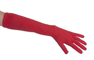 "Nylon 18"" Adult Red Gloves"