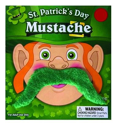 St. Patrick's Day Green Moustache