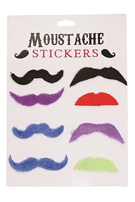 Moustache Stickers 8-Pack