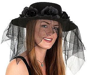 Ladies Flower And Veil Hat