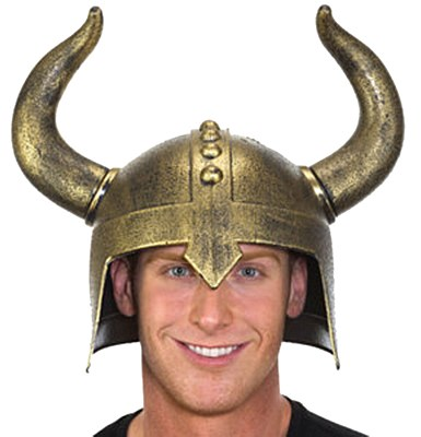 Viking Deluxe Gold Helmet
