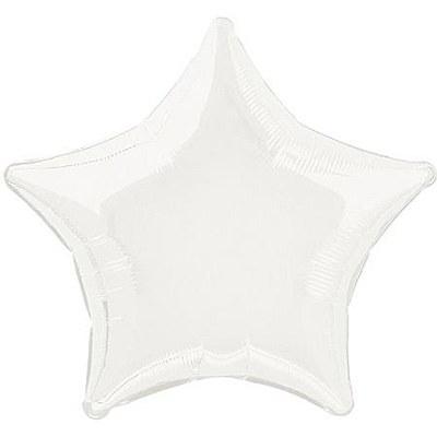 Star Shaped Foil White Balloon