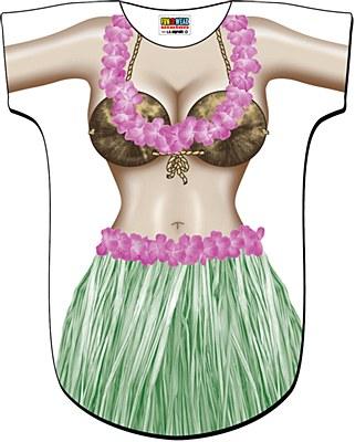 Hula Girl Novelty Cover Up Shirt