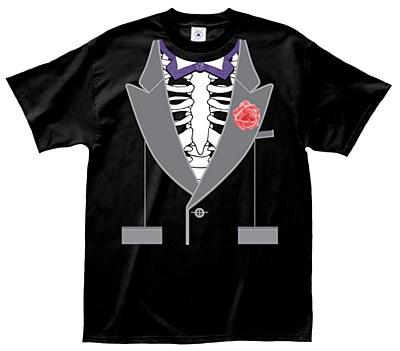 Skeleton Tuxedo Front Shirt