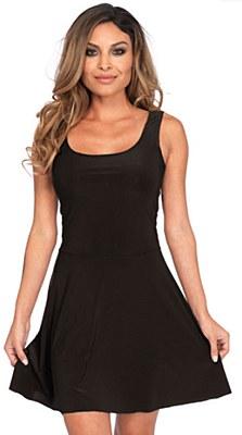 Basic Black Mini Skater Dress