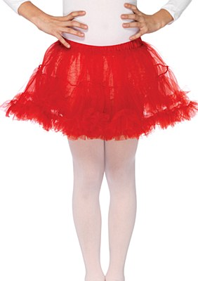 Layered Child Red Petticoat