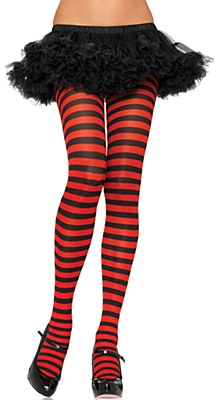 Striped Red And Black Tights