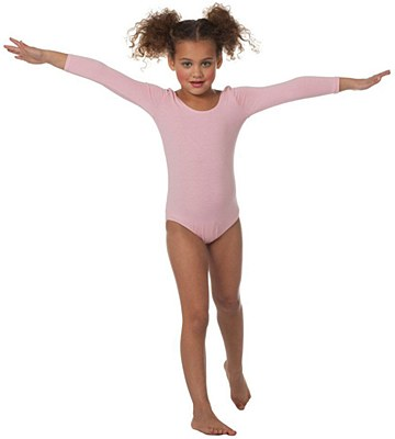 Pink Long Sleeve Child Bodysuit