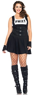 Sultry Swat Officer Adult Plus Costume