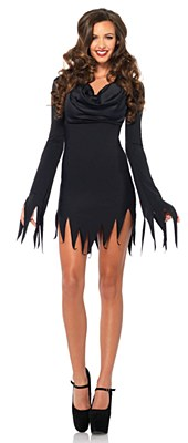 Cowl Neck Tattered Adult Dress