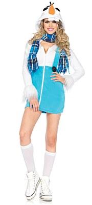 Frozen Olaf Cozy Snowman Adult Costume