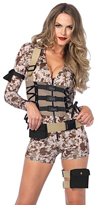 Battlefield Babe Army Adult Costume