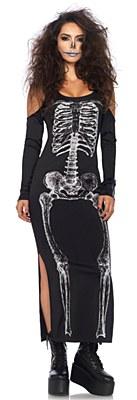 Skeleton Bone Long Adult Dress