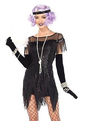 Foxtrot Flirt Flapper Adult Costume - Black