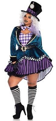 Delightful Mad Hatter Adult Plus Costume