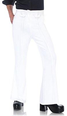 Disco Deluxe Men's White Bell Bottom Pants
