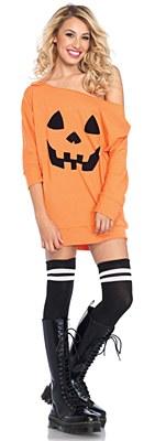 Pumpkin Off The Shoulder Dress